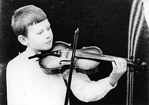 Саша Гоноболин в детстве