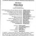 Программка спектакля по Мольеру